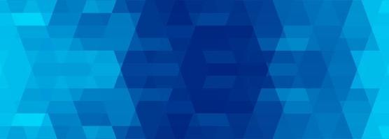 Abstract blue dark and light  geometric banner design vector