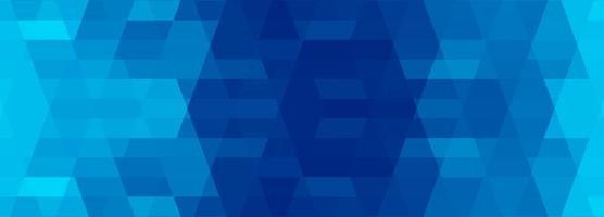 diseño de banner geométrico azul oscuro y claro abstracto