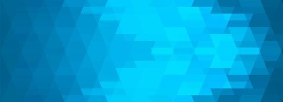 Abstract blue geometric tiles banner vector