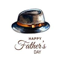 Beautiful Happy Father's Day Card  vector