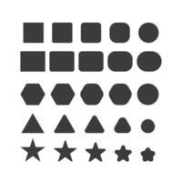 ensemble de formes géométriques noires de base vecteur
