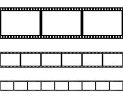 Seamless flat film strips set vector