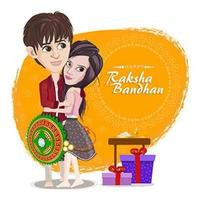 Raksha Bandhan Celebration Template vector