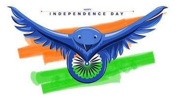 Independence Day of India template vector