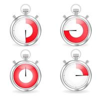Analog Stopwatch set vector