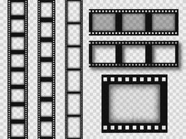 Assorted 35mm retro film strips vector