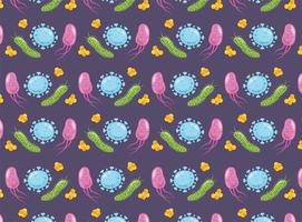 Virus background pattern