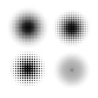 Halftone circle gradient doted vector