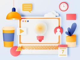 Digital Work Elements vector