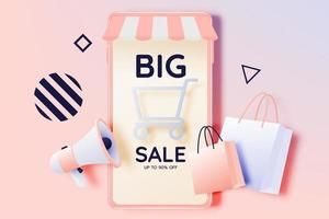 Sale banner and mobile vector