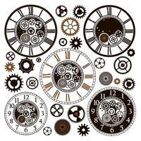 Watch gears pattern  vector
