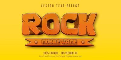 Rock mobile game text vector