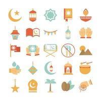 Assorted Middle Eastern Celebration icons vector