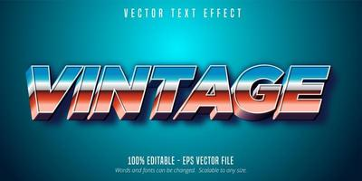 Vintage 80's style text vector
