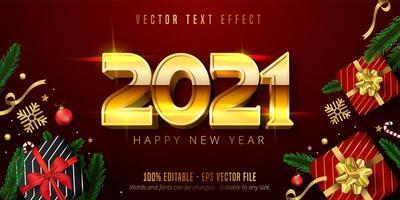 2021 Happy new year text vector