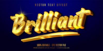 Gold Brilliant text vector