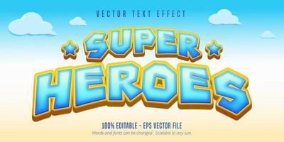Super heroes text vector