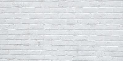 Modern white brick wall photo