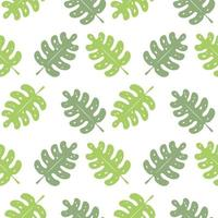 Green leaves repeated pattern vector