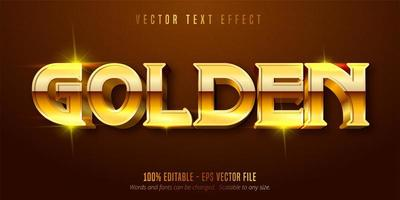 efeito de texto dourado vetor