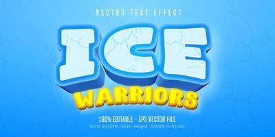 texto de guerreros de hielo vector