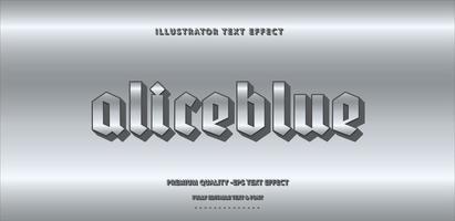 style de texte gris clair métallique vecteur
