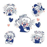 Fangirl Sticker Set