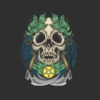 Dead skull with leaf crown