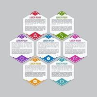 modèle de bannière infographique hexagonale