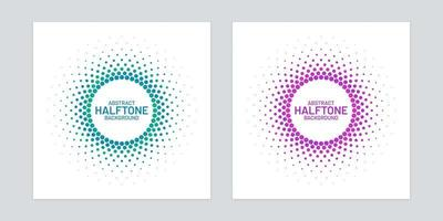 Round Gradient Halftone Set  vector