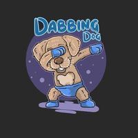 Cute dance dog superstar vector