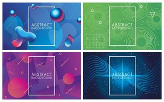 Various Colors and Fluids Set of Abstract Backgrounds