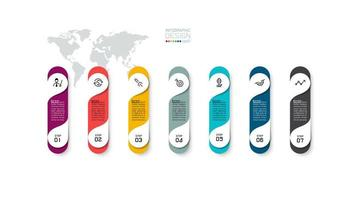 conception infographique commerciale en 7 étapes colorées