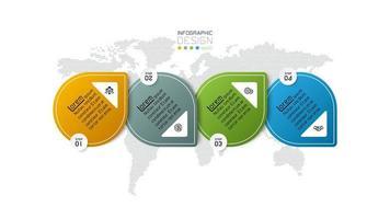design de apresentação de negócios modernos de quatro etapas