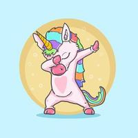lindo unicornio haciendo baile genial