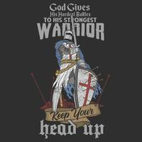 diseño de caballero guerrero vector