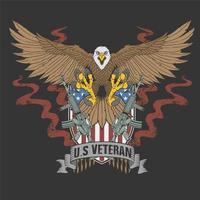 American eagle US veteran t-shirt design