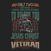 orgulloso de ser un veterano soldado de diseño vector