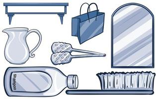 Isolated household items  vector
