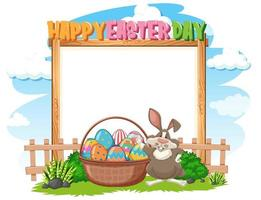Border template design with Easter bunny