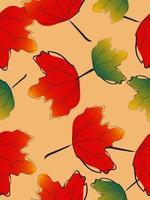Autumn maple leaf seamless pattern vector