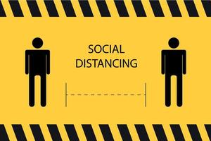 banner de distanciamiento social vector