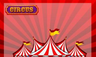Border template with circus design