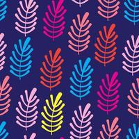 Colorful tropical leaf seamless pattern