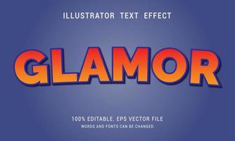 gradiente vermelho e laranja com efeito de texto de contorno azul vetor