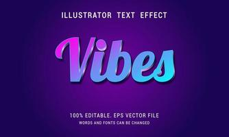 Shiny Pink to Blue Gradient Vibes Text Effect vector