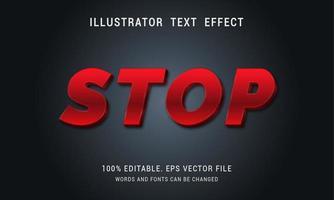 metallic rood cursief teksteffect vector