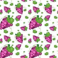 Seamless background design with grapes vector