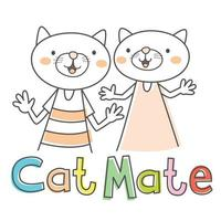 Cartoon Cat Mate vector