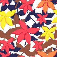 Colorful floral seamless pattern
